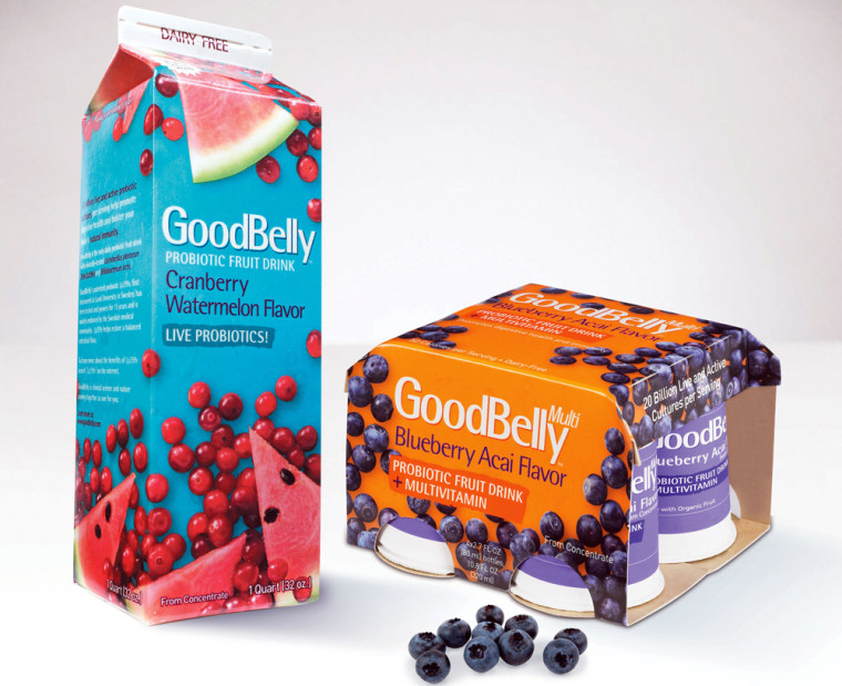 Image: new nutritious and delicious fruit drink featuring powerful probiotics