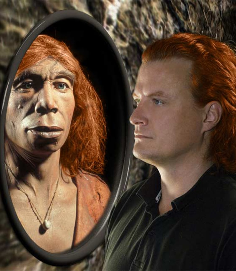 Some Neanderthals may have had pale skin and red hair similar to that of some modern humans.