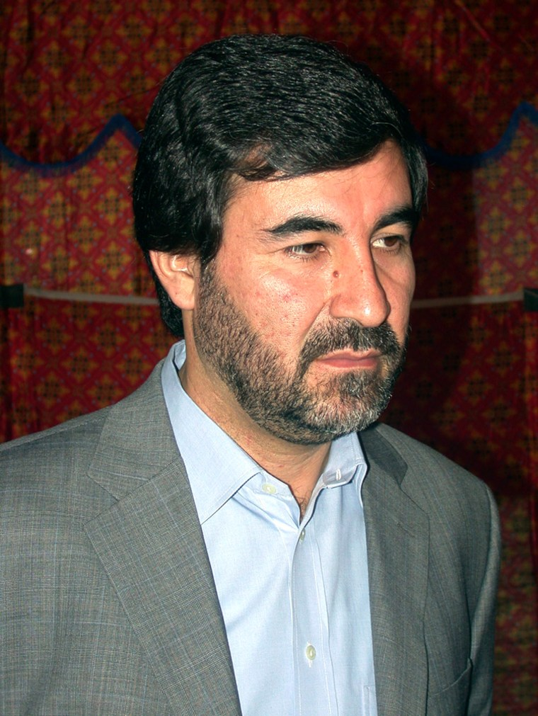 Afghan parliamentarian and opposition spokesman Mostafa Kazemi is seen in this undated photograph in Afghanistan