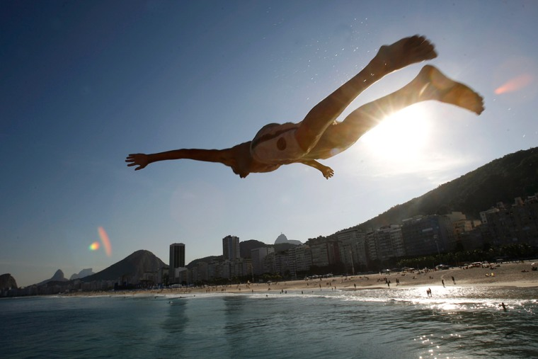 Image: Diving at beach in Rio