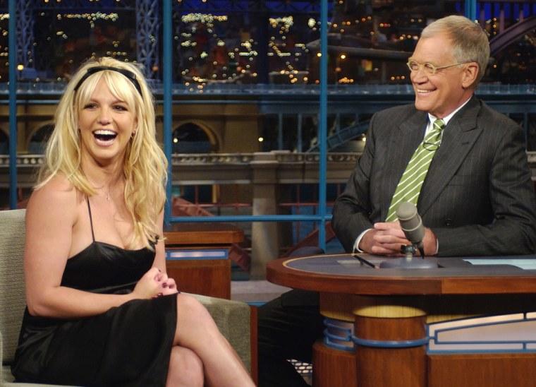 Image: Britney Spears, David Letterman