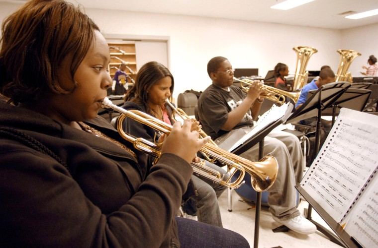 Image:  students playing music