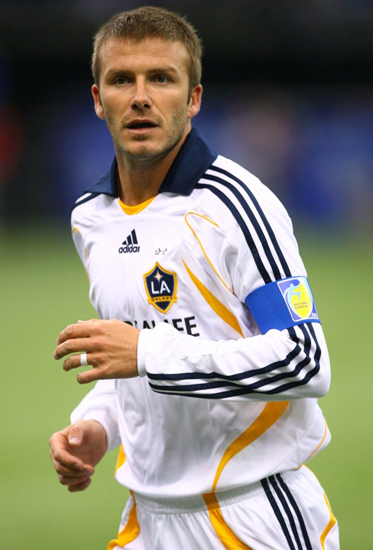 Image: David Beckham #23 of the Los Angeles Galaxy