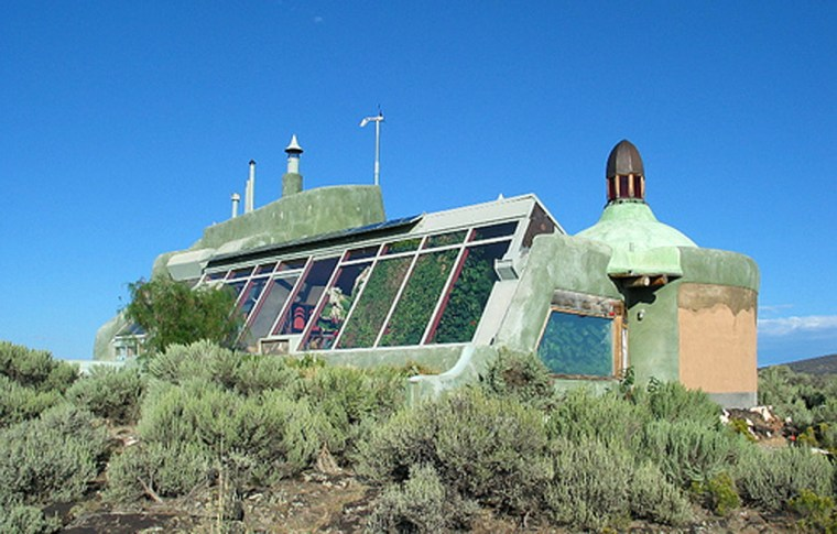Earthships, self-sufficient homes made of recycled tires, aren't for everybody. But architects are trying to take this green approach to the masses. The Nautilus Earthship, pictured here, in Taos, N.M., was built in 1996.