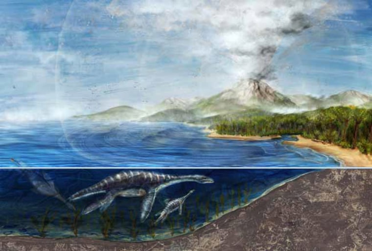 New research suggests that volcanoes that erupted between 63 million to 67 million years ago may have contributed to a mass dinosaur extinction.