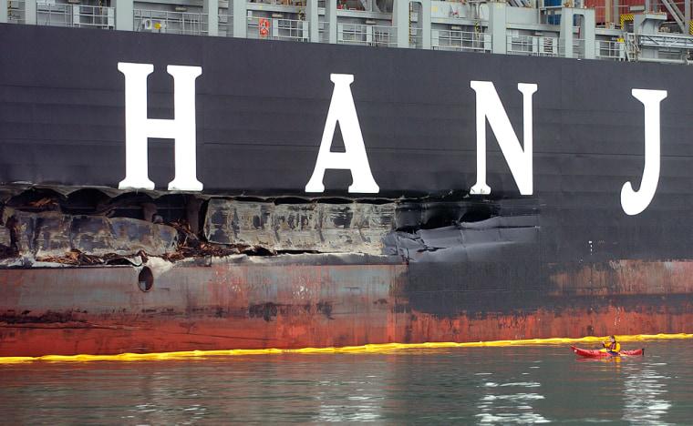 Image: Damaged ship