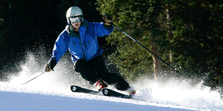 Image: Skier on opening day
