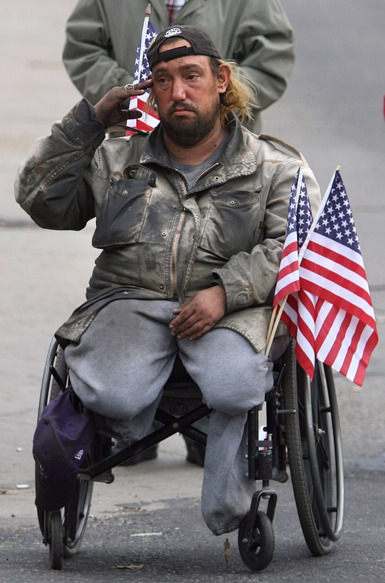 Image: Veteran at parade