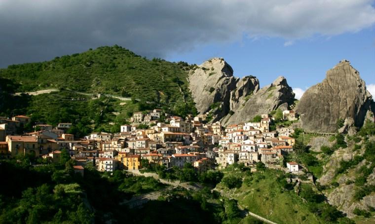 Image: Castelmezzano in Dolomiti Lucane Mountains