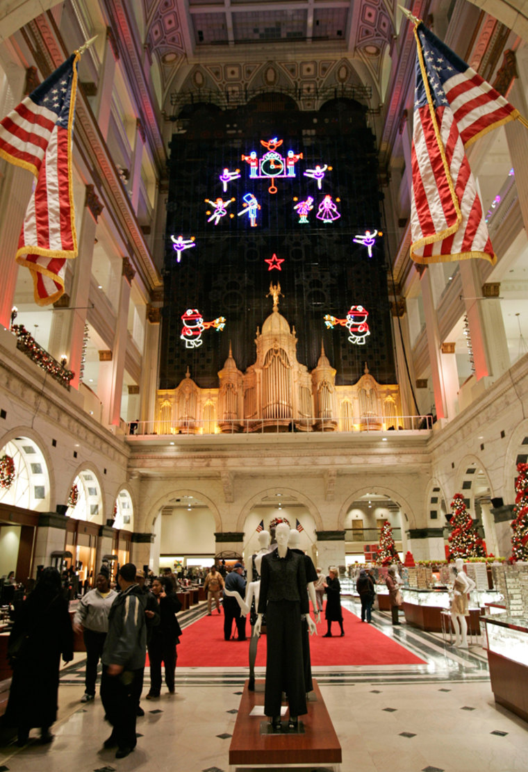 Image: Christmas decorations at Macy's in Philadelphia