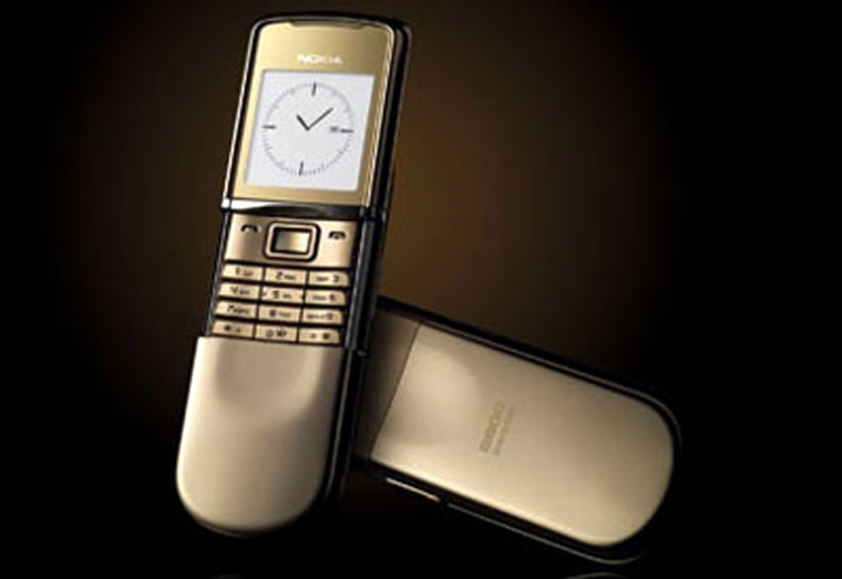 Image: Motorola cell phone with clock