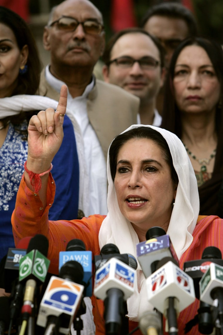Benazir Bhutto Speaks to The Media After Being Freed From House Arrest