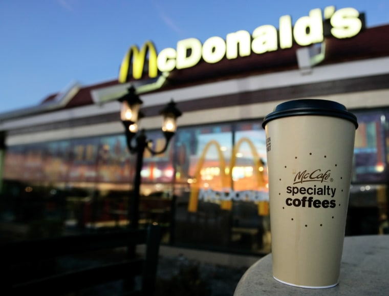 Image: A cup of McDonald's specialty coffee