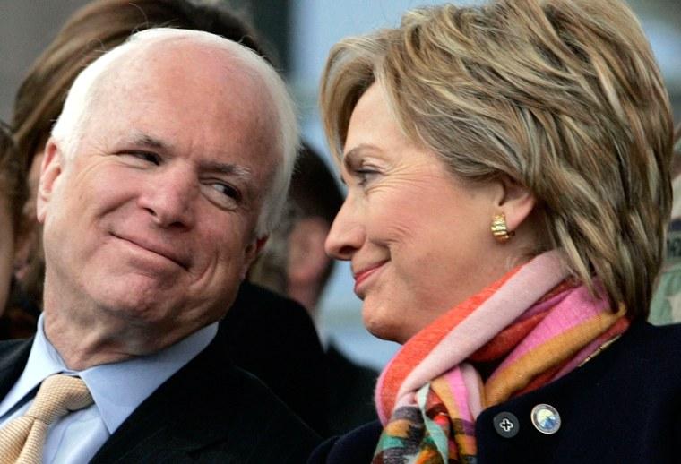 Image: U.S. Senator McCain and U.S. Senator Rodham Clinton