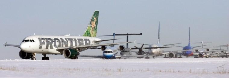Image:  Aircraft lined up at airport