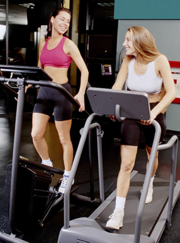 Image: Two women working out