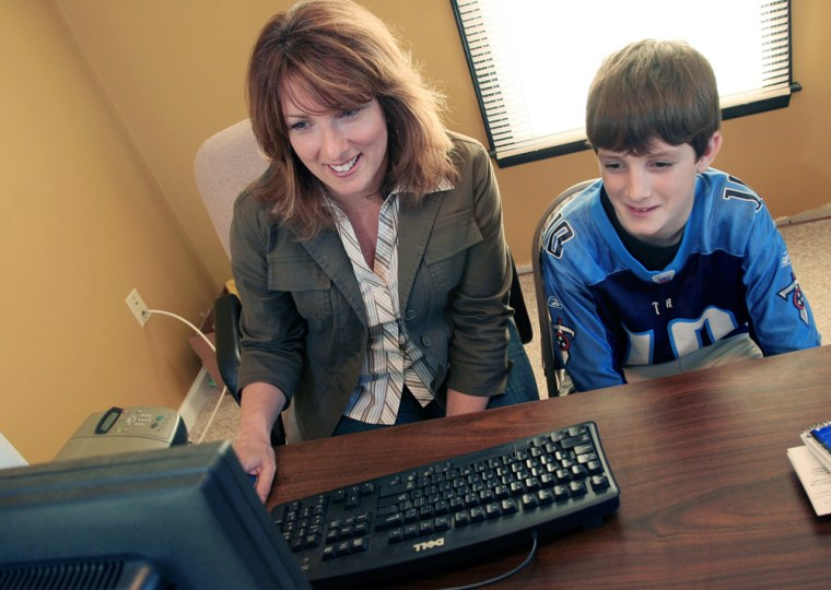 Image: Susan Cole and her 12-year-old son Danny