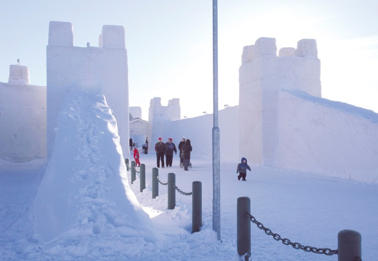 Image: A large snowcastle