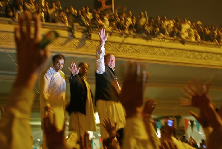 Image: Former Prime Minister Nawaz Sharif Returns To Pakistan