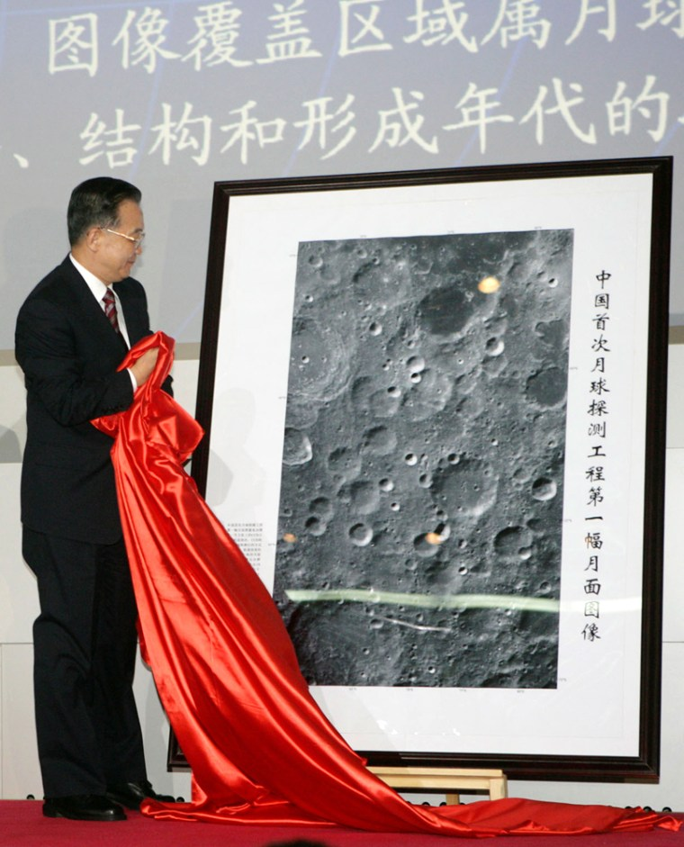 Image: Chinese lunar probe photograph
