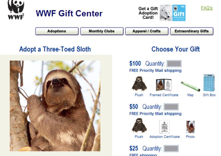 Image: adopt a sloth
