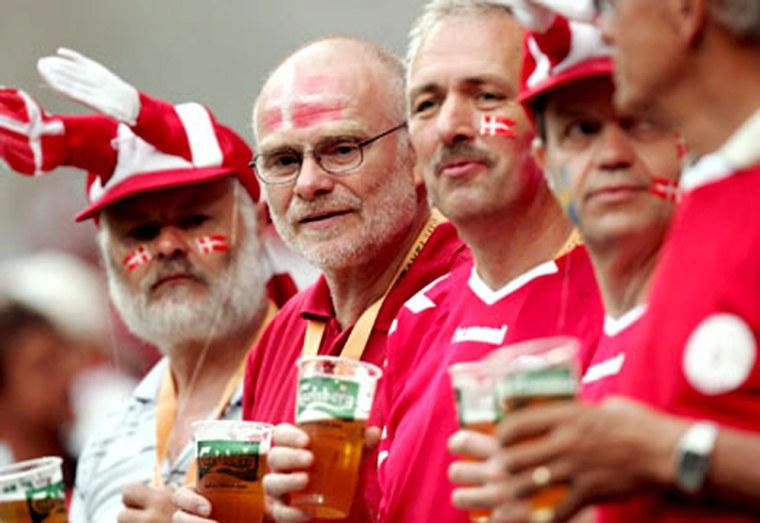 Image: Denmark's soccer fans