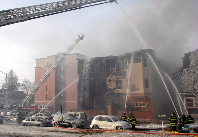 Aftermath of fuel fire in Everett Massachusetts