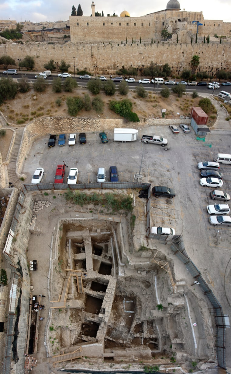Image: 2,000-year-old remains of a building, just outside the walls of Jerusalem's Old City