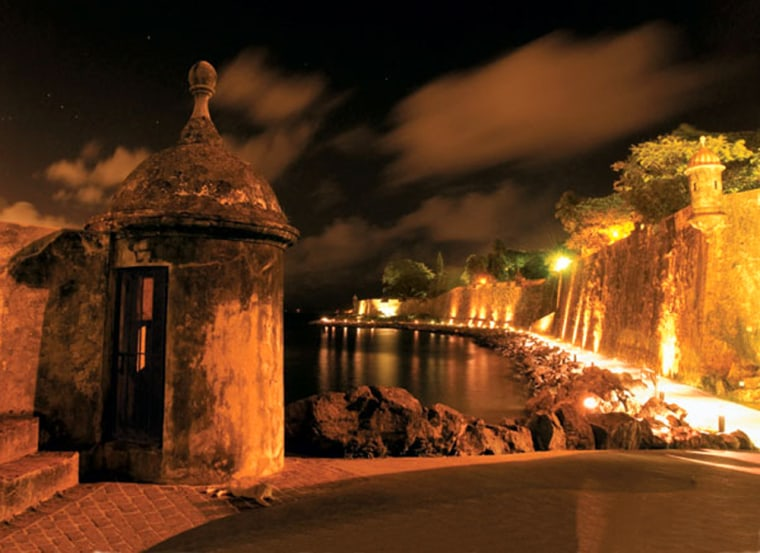 Nightfall just outside La Puerta de San Juan.
