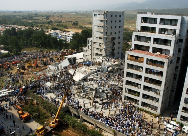 A 6.0 quake in Islamabad, home to about 1 million people, would kill an estimated 12,500.