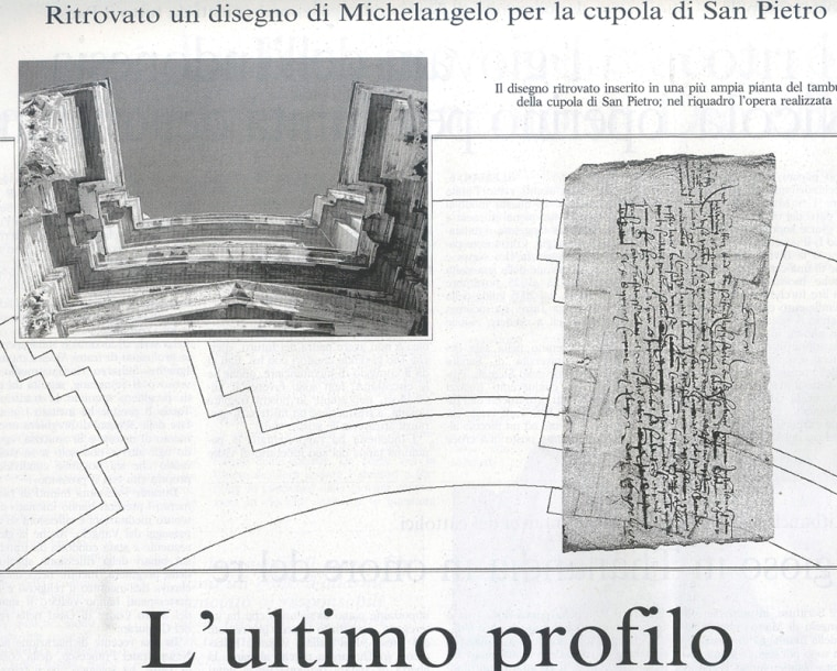 Image: Vatican finds 'lost' Michelangelo drawing