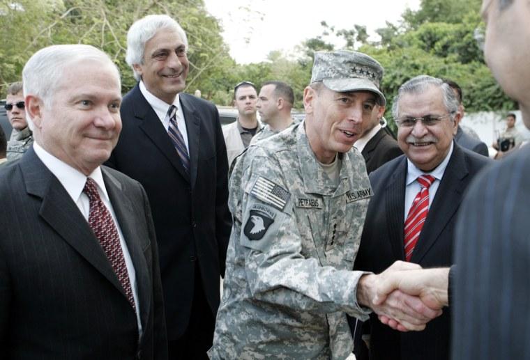 Robert M. Gates, David Petraeus, Jalal Talabani