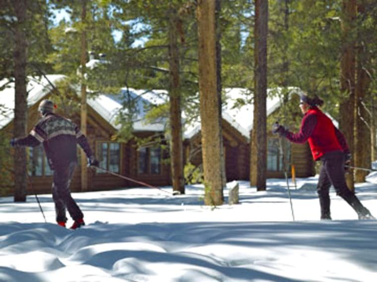 Image: Cross-country skiing at Devil's Thumb Ranch