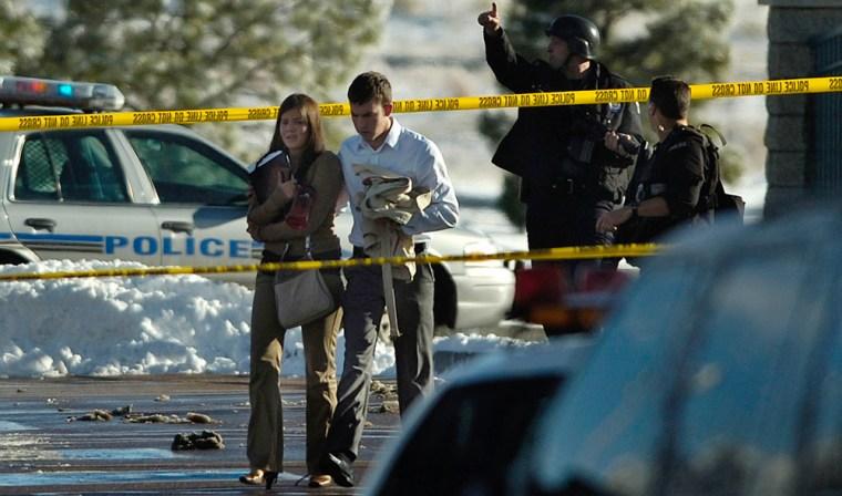 Image: Law enforcement officials swarm New Life Church