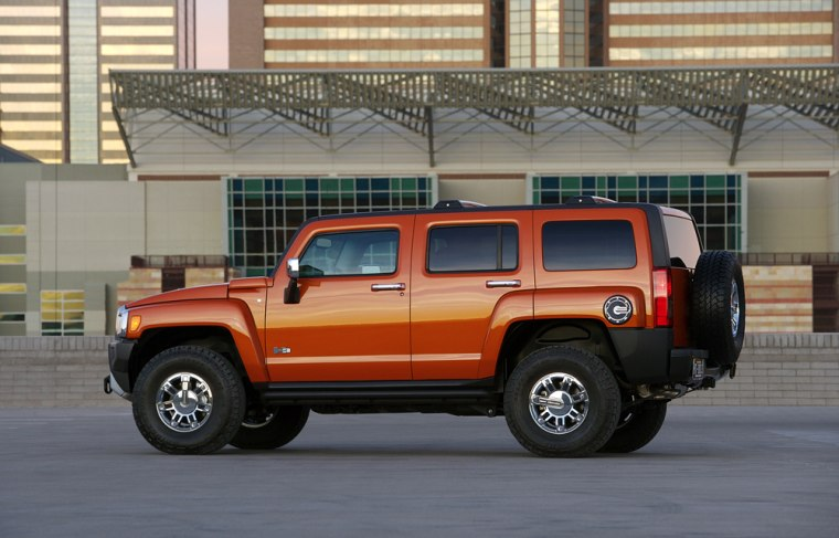 The Hummer H3 gets about 14 miles per gallon in the city, comparable to other vehicles in its class.