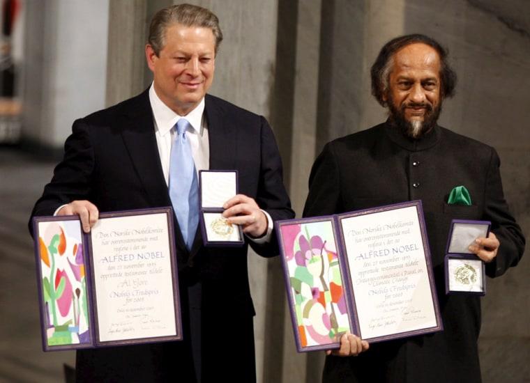 Rajendra Pachauri and Al Gore