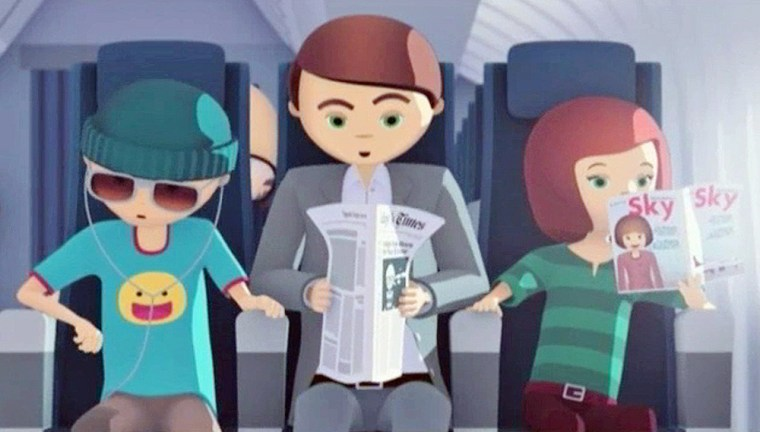 Image: Video frame grab provided by Delta Air Lines shows a scene from a short made-for-Internet video