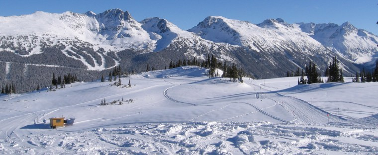 Lots of fresh snow on a picture-perfect day at Whistler.
