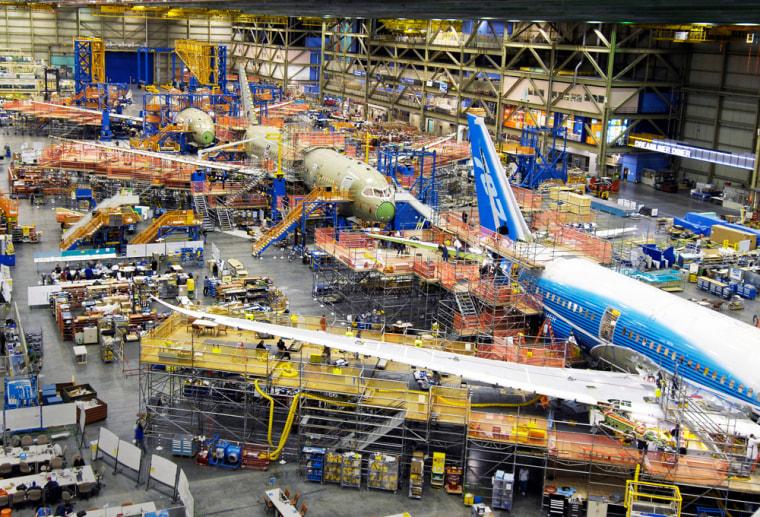 Image: Boeing production plant