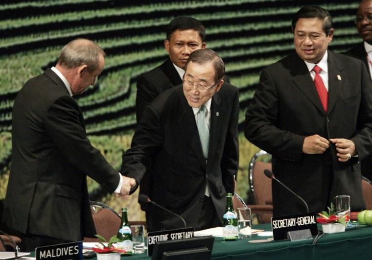 Yvo de Boer, Ban Ki-moon, Susilo Bambang Yudhoyono