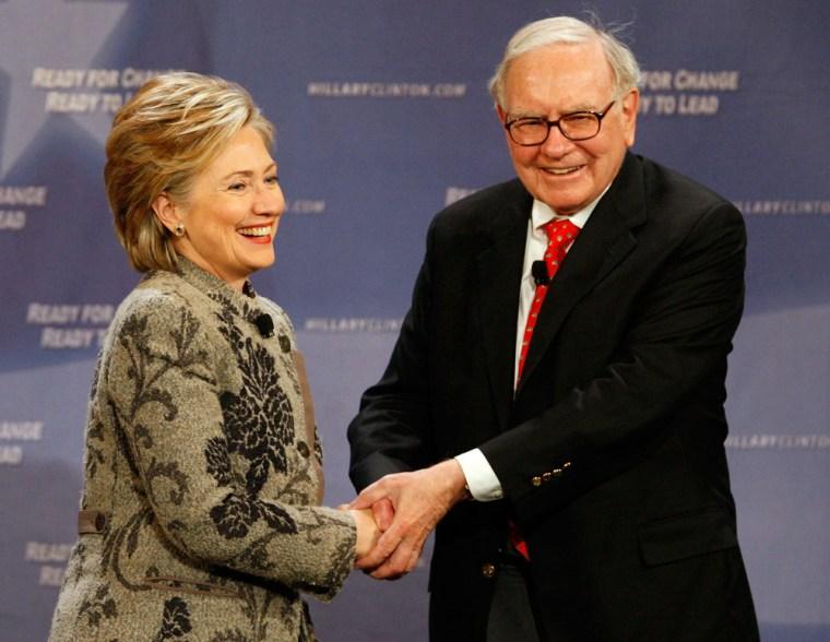Image: Hillary Clinton Meets With Investor Warren Buffett