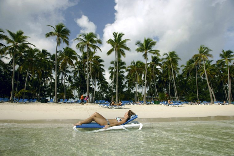 A tourist relaxes in the Dominican Republic