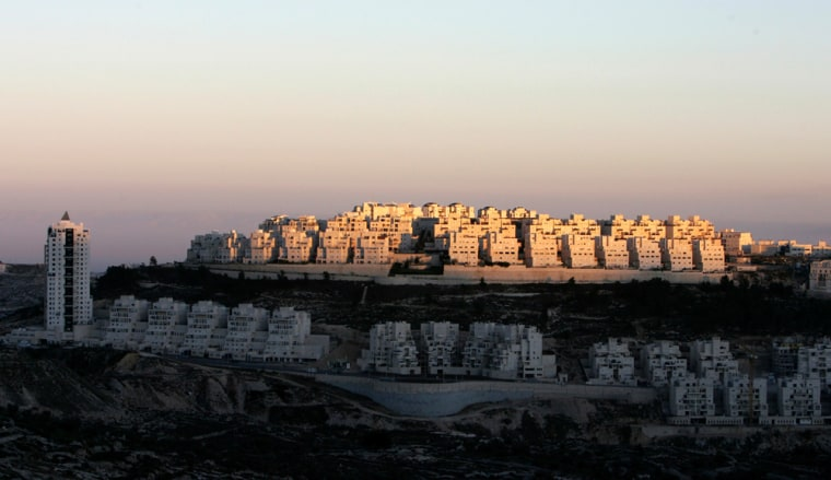 Image: A general view of the settlement of Har Homa