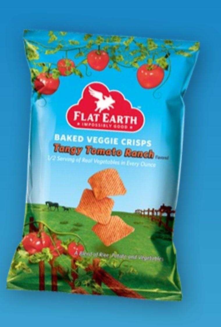 Image: Flat Earth Baked Veggie Crisps