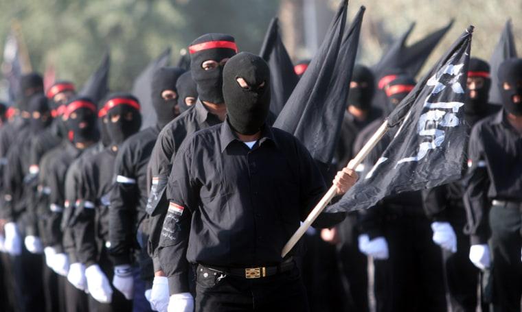 Image: Members of the Mahdi Army militia.