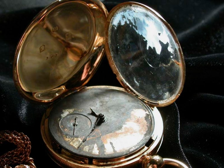 Image: gold watch that belonged to the commander of the H.L. Hunley,  Lt. George Dixon