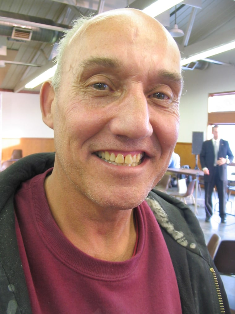 Image: Dennis Pearson, an Obama supporter in Manchester, Iowa