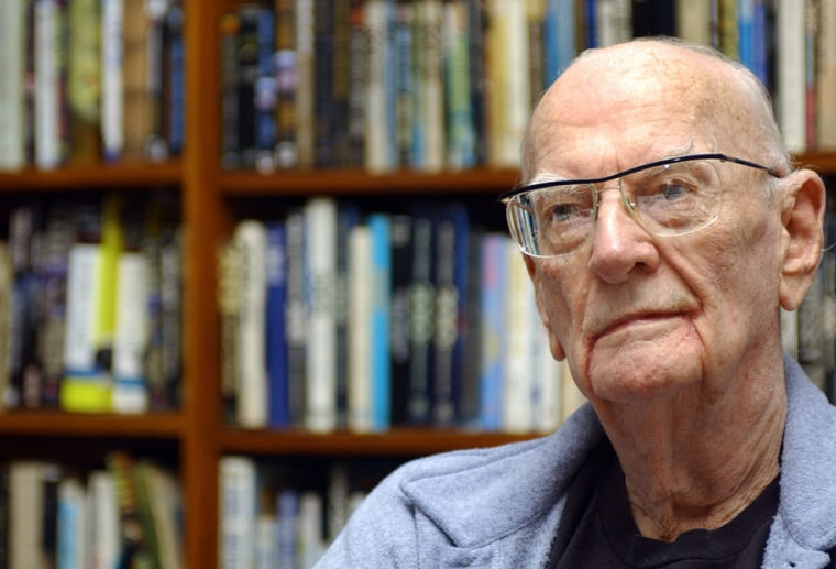British-born science fiction author Arthur C Clarke, shown hereat his residence in Colombo, Sri Lanka, turned 90 years old on Sunday.