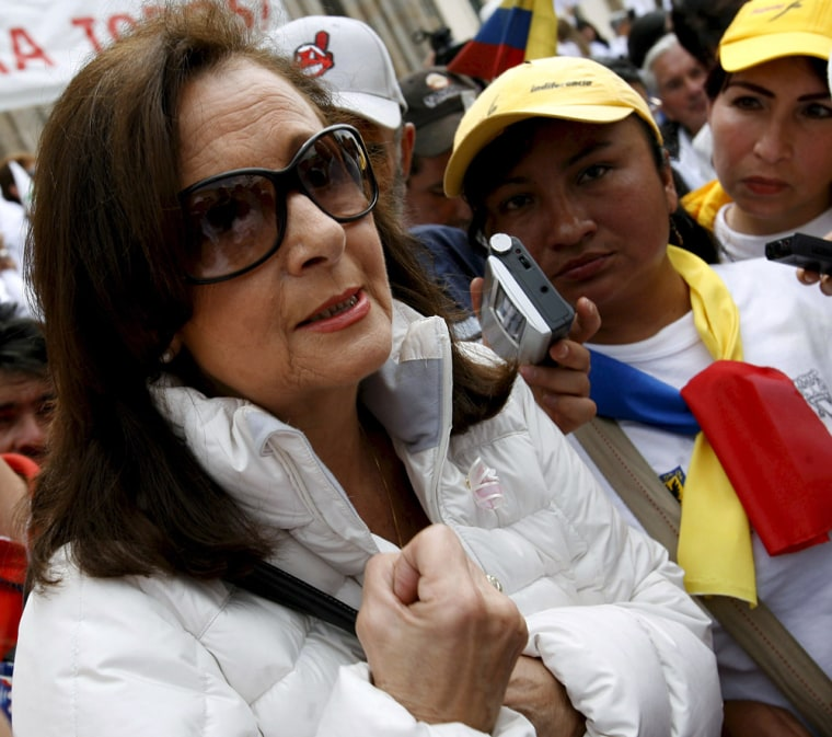 The mother of the Colombian-French politician Ingrid Betancourt