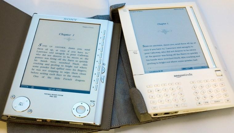 Image: Amazon Kindle and Sony Reader